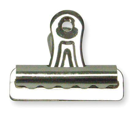 Bulldog Clip, 1 1/4 In W, Silver, PK36