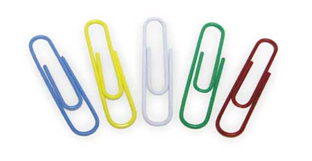 Paper Clip, 1 1/3In, Asrt, Metal, PK80