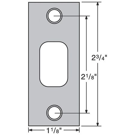 Deadbolt Strikes, Satin Nickel
