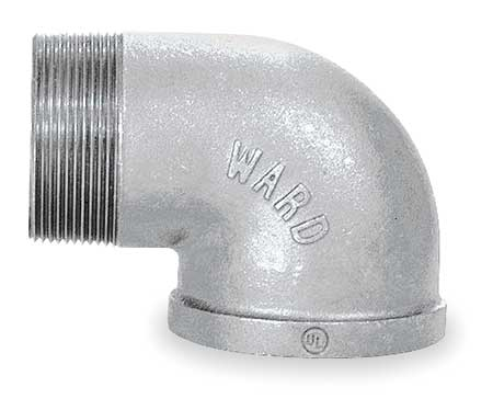 "2-1/2"" FNPT x MNPT Galvanized 90 Degree Street Elbow"