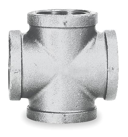 "2-1/2"" FNPT Galvanized Cross"