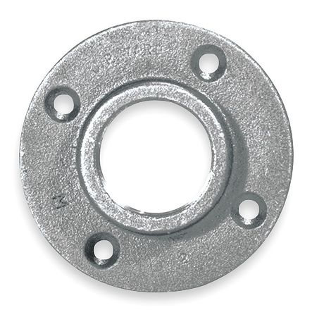 Floor Flange, 3 In, NPT, Malleable Iron