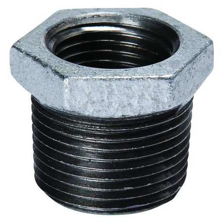 "2"" MNPT x 1/2"" FNPT Galvanized Hex Bushing"