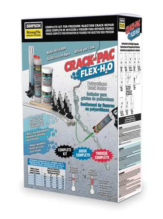 Crack Injection Repair Kit, Amber/Blue
