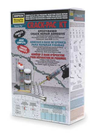 Crack Injection Repair Kit, Clear/Blue