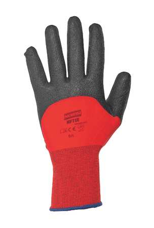 Coated Gloves, XXL, Black/Red, PR
