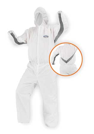 Hooded Disp. Coveralls, White, M, PK25