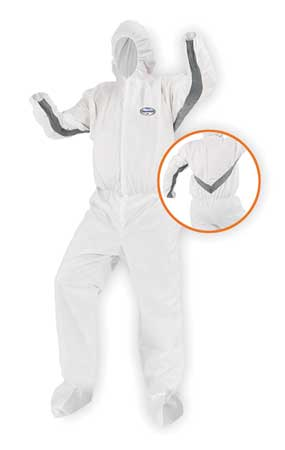 Hooded Disp. Coveralls, White, L, PK25