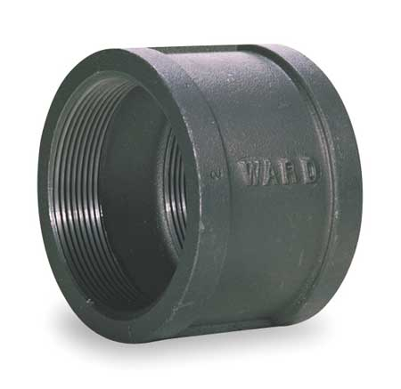 "2-1/2"" FNPT Black Malleable Iron Coupling"