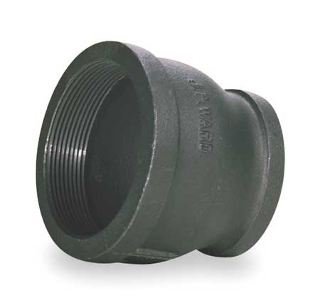 "3"" x 1-1/4"" FNPT Black Malleable Iron Reducer"