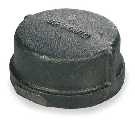 "3"" FNPT Black Malleable Iron Cap"