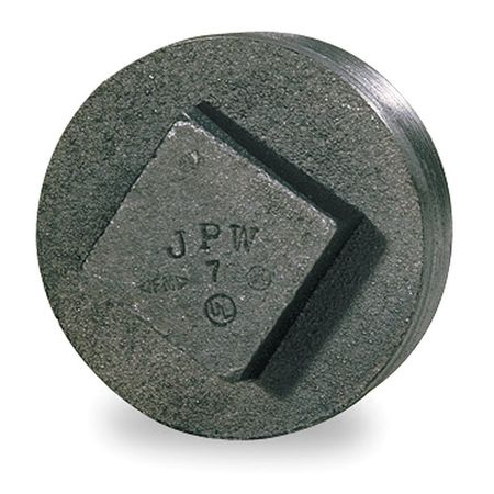 "4"" MNPT Black Malleable Iron Square Head Plug"