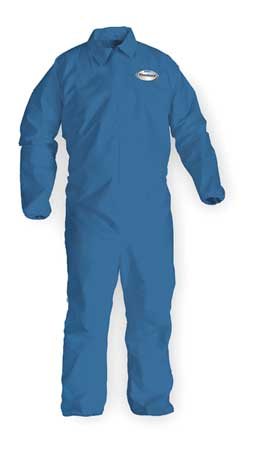 Collared Chem Resist. Coveralls, 3XL, PK20