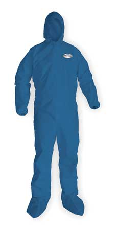 Hooded Chem. Resist. Coveralls, BL, M, PK24