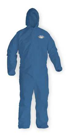 Hooded Chem. Resist. Coveralls, BL, L, PK24