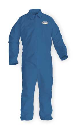 Chemical Resistant Coveralls, Blue, L, PK24