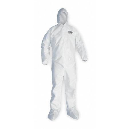 Hooded Disp. Coveralls, White, 4XL, PK25