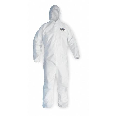 Hooded Disp. Coveralls, White, XL, PK25