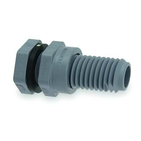 Bulkhead Fitting, 3 In, Socket x Socket