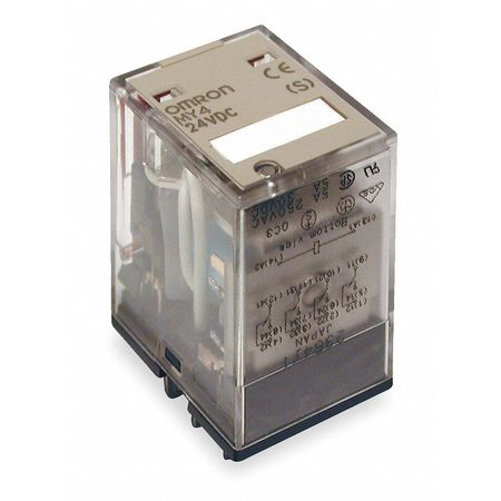 Plug In Relay, 14 Pins, Square, 24VDC