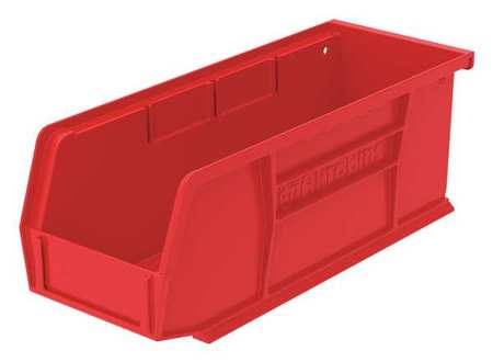 Hang/Stack Bin, H 3, W 4 1/8, D 7 3/8, Red