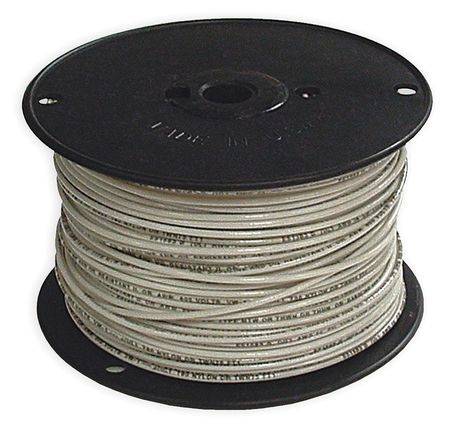 Building Wire, THHN, 14 AWG, White, 500ft