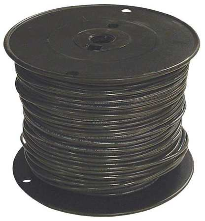 Building Wire, THHN, 12 AWG, Black, 500ft