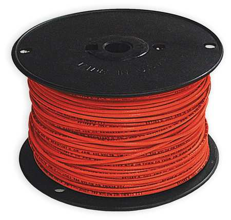 Building Wire, THHN, 14 AWG, Red, 500ft