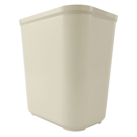 7 gal.  Rectangular  Beige  Trash Can