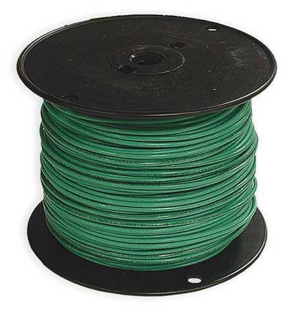 Building Wire, THHN, 14 AWG, Green, 500ft