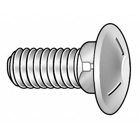 Carriage Bolt, 1/2-13 x 4.5, Grade 1, PK25