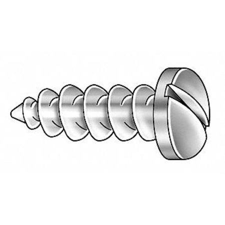 Metal Screw, #14, 1 1/4 In L, PK100
