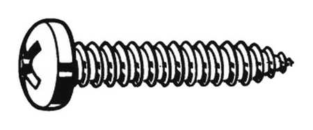 Sheet Metal Screw, Pan, #12, 1 in., PK100