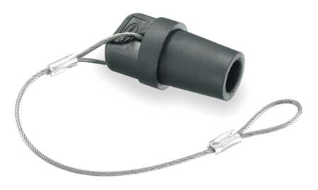Cap, Black, 300/400 Amp Male Single Pole