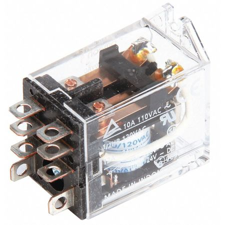 Relay, 8Pin, DPDT, 10A, 24VAC