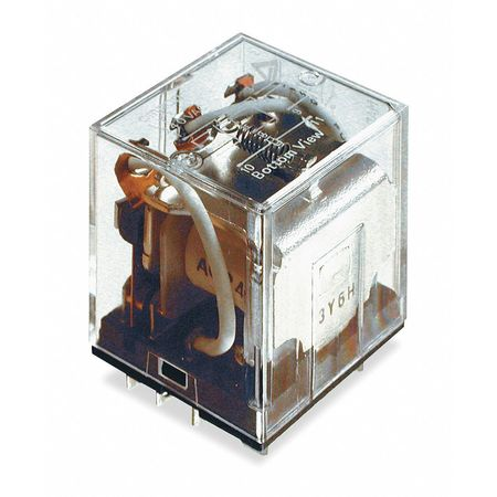 Plug In Relay, 11 Pins, Square, 240VAC
