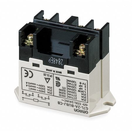 Enclosed Power Relay, 6 Pin, 24VDC, DPST-NO