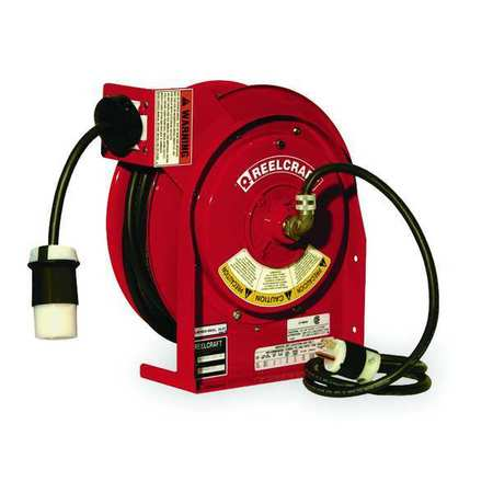 Retractable Cord Reel with 45 ft. Cord 1-Outlet 12/3