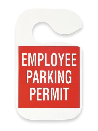 Employee Parking Permit, Red, PK5