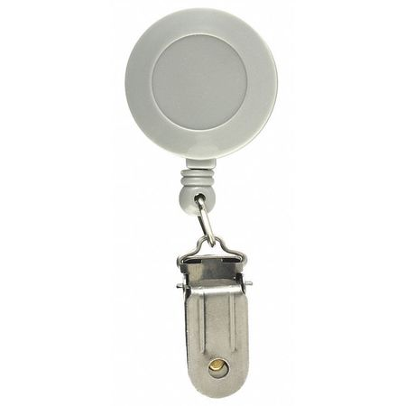 Retractable Reel w Clamp, Gray, PK5