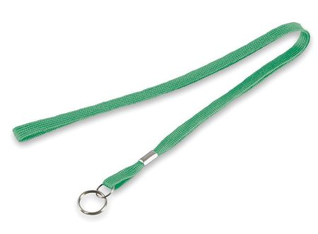 Flat Neck Cord, Green, 5/16 In, PK10