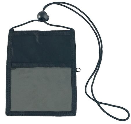 Badge Holder Pouch and Cord, PK5