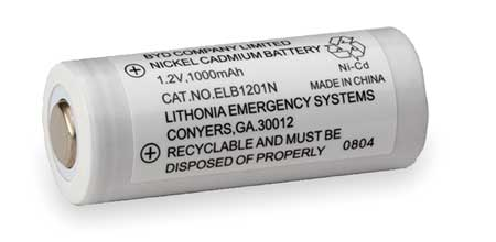 Battery, Nickel Cadmium, 1.2V, 1A/HR.