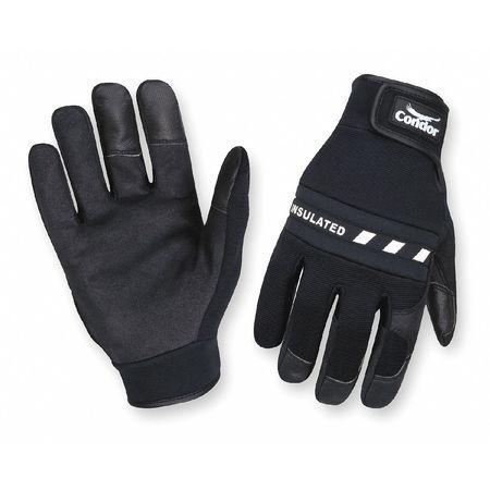 Anti-Vibration Gloves, 2XL, Black, PR