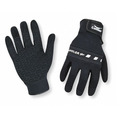 Mechanics Gloves, Silicone, Blk, 2XL, PR