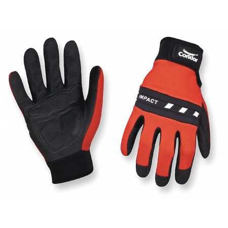Anti-Vibration Gloves, 2XL, Red/Black, PR