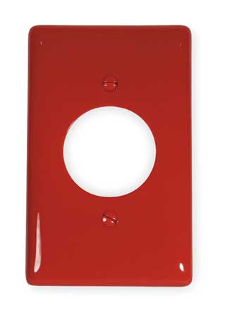 Single Receptacle Plate, 1 Gang, Red