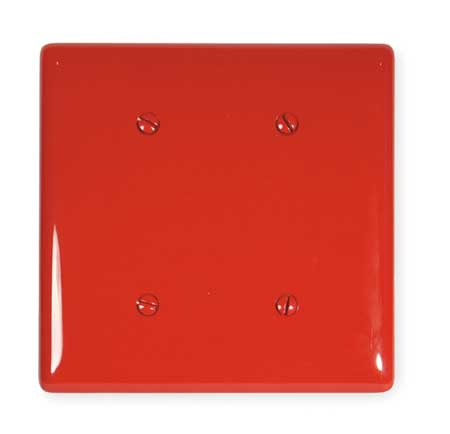 Blank Strap Mount Plate, 2 Gang, Red