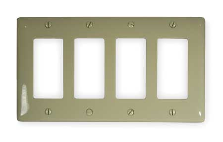 Rocker Wall Plate, 4 Gang, Ivory