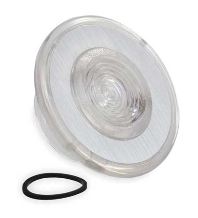 Push Button Cap, Illuminated, 30mm, Clear